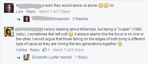 FB millennial post